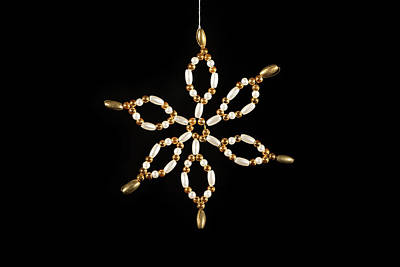 Abstract Airplane Art - Handmade star used for decorating a christmas tree by Stefan Rotter