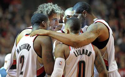 Photograph - Houston Rockets V Portland Trailblazers by Steve Dykes
