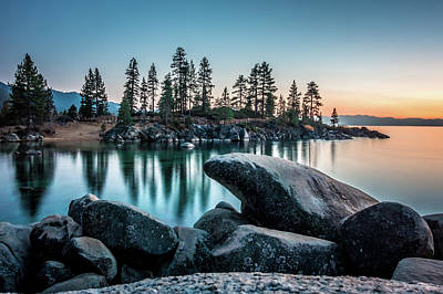 Photograph - Lake Tahoe Sunset At Sand Harbor by Alex Grichenko