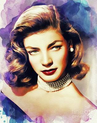 Polaroid Camera - Lauren Bacall, Vintage Movie Star by Esoterica Art Agency