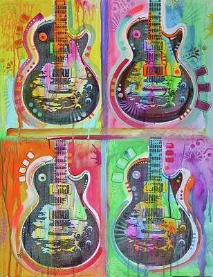 Painting - 4 Les Pauls by Dean Russo Art