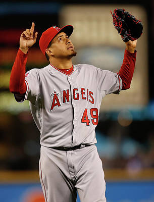 Photograph - Los Angeles Angels Of Anaheim V Seattle by Otto Greule Jr