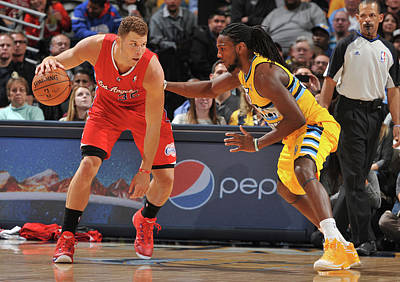 Photograph - Los Angeles Clippers V Denver Nuggets by Garrett Ellwood