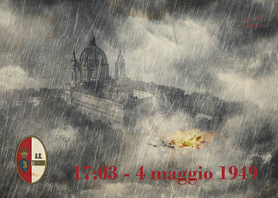 Comic Character Paintings - 4 Maggio 1949 by Andrea Gatti