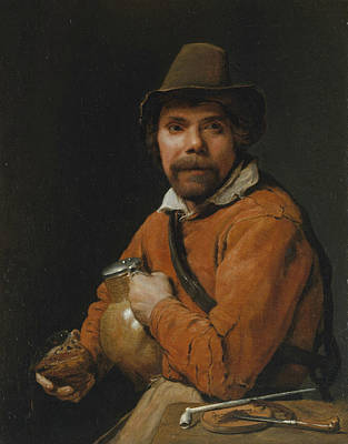 Painting - Man Holding A Jug by Michiel Sweerts