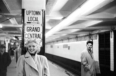 Photograph - Marilyn In Grand Central Station by Michael Ochs Archives