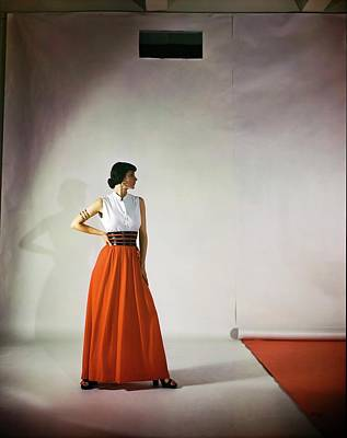 Photograph - Model In B.h. Wragge by Horst P. Horst