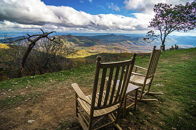 Photograph - Mountain Views At Sunset From Lawn Chair by Alex Grichenko