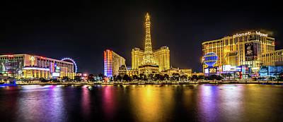 Photograph - Nigh Life And City Skyline In Las Vegas Nevada by Alex Grichenko