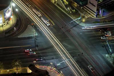 Photograph - Night Time On Als Vegas Strip In Nevada by Alex Grichenko