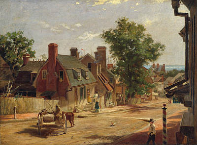Painting - Old Annapolis, Francis Street by Francis Blackwell Mayer