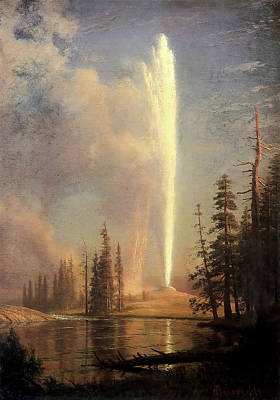 Photograph - Old Faithful by Albert Bierstadt