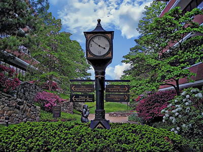 Photograph - Old Town Clock by Anthony Dezenzio