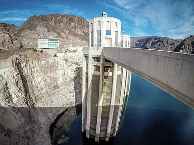 Photograph - on Hoover Dam at Lake Mead by Alex Grichenko
