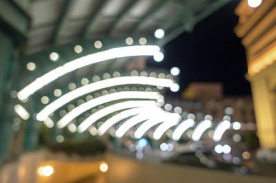 Photograph - Paris Las Vegas Nevada Hotel At Night by Alex Grichenko