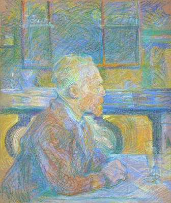 Painting - Portrait Of Vincent Van Gogh by Henri De Toulouse-Lautrec