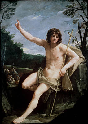 Painting - Saint John The Baptist In The Wilderness by Guido Reni