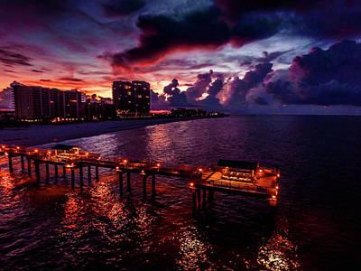 Photograph - 4 Season Pier Sunrise by Michael Thomas