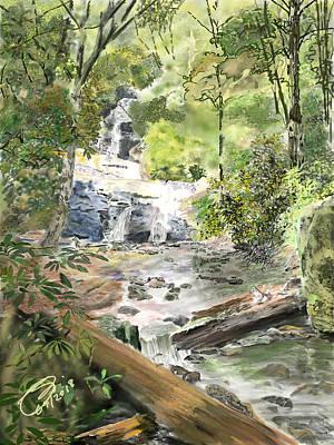 Digital Art - Set Rock Creek Falls by Joel Deutsch