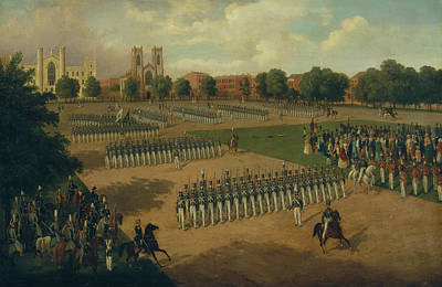 Painting - Seventh Regiment On Review, Washington Square, New York by Otto Boetticher