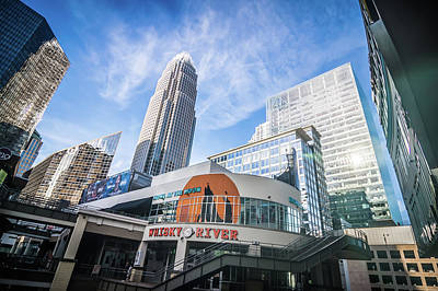 Bath Time Rights Managed Images - Skyline Of Charlotte North Carolina With Blue Sky Royalty-Free Image by Alex Grichenko