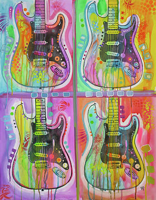 Painting - 4 Strats by Dean Russo Art