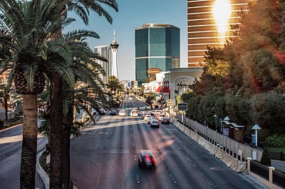 Photograph - Street Scenes In Las Vegas Nevada by Alex Grichenko