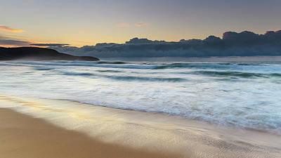Photograph - Sunrise Seascape And Cloudbank by Merrillie Redden