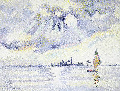 Painting - Sunset On The Lagoon, Venice by Henri-Edmond Cross