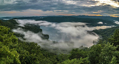 Photograph - Sunset Over Lake Jcassee From Jumping Off Rock Overlook by Alex Grichenko