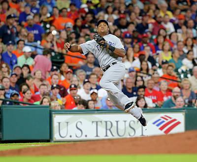 Photograph - Texas Rangers V Houston Astros by Bob Levey