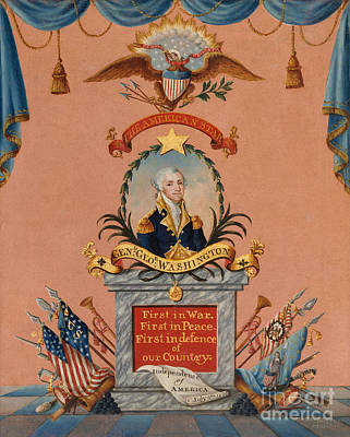 Painting - The American Star  George Washington by Frederick Kemmelmeyer