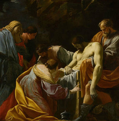 Painting - The Entombment by Simon Vouet