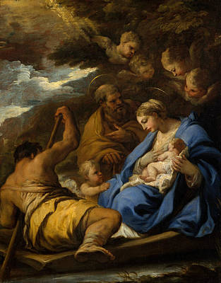Painting - The Flight Into Egypt by Luca Giordano
