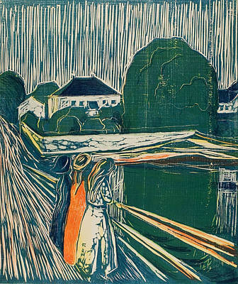 Relief - The Girls On The Bridge by Edvard Munch