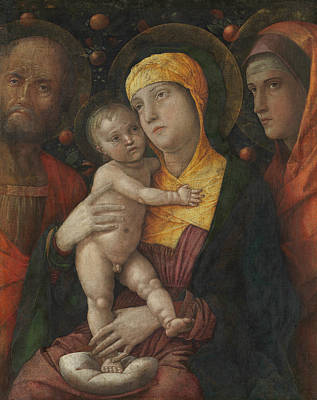 Painting - The Holy Family With Saint Mary Magdalen by Andrea Mantegna