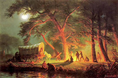 Photograph - The Oregon Trail II by Albert Bierstadt