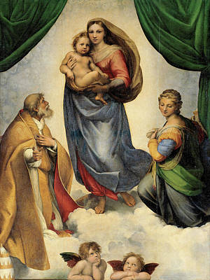 Painting - The Sistine Madonna by Raphael