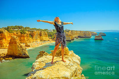 Photograph - Tourist Woman In Algarve by Benny Marty