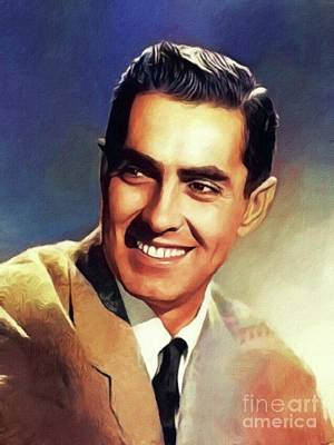 Royalty-Free and Rights-Managed Images - Tyrone Power, Vintage Movie Star by Esoterica Art Agency