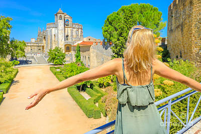 Photograph - Woman At Tomar Monastery by Benny Marty