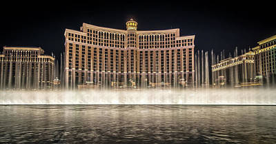 Photograph - World Famous Fountain Water Show In Las Vegas Nevada by Alex Grichenko