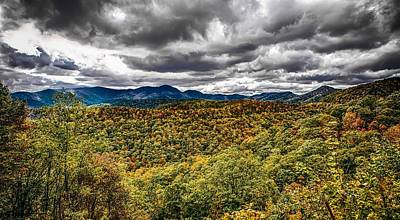 Easter Egg Hunt Rights Managed Images - Blue Ridge And Smoky Mountains Changing Color In Fall Royalty-Free Image by Alex Grichenko