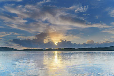 Photograph - Early Morning Clouds And Reflections On The Bay by Merrillie Redden
