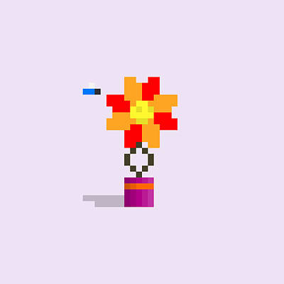 Colorful Button - #404 Annabelle - Pixel.Flowers by Roscoe Hart and Adam Oriti
