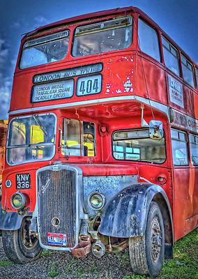 Photograph - 404 London Bus Tour by Thom Zehrfeld