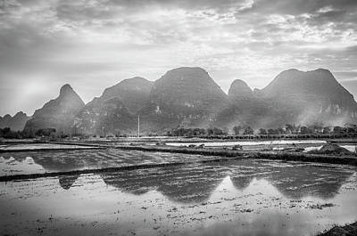 Photograph - The Mountains And Countryside Scenery In Spring by Carl Ning