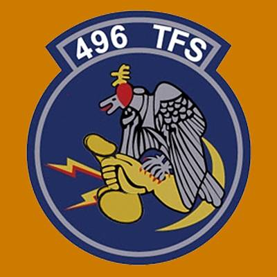 Digital Art - 496th Tactical Fighter Squadron  by Walter Chamberlain