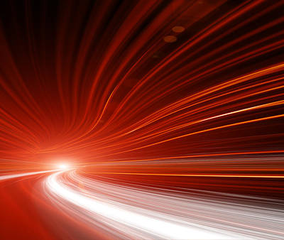 Photograph - Abstract Speed Motion In Highway Tunnel by Nadla