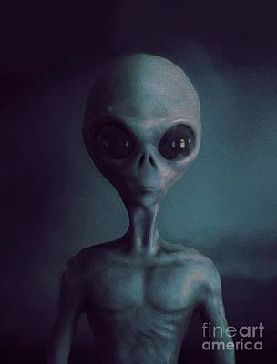 Science Fiction Royalty-Free and Rights-Managed Images - Alien by Esoterica Art Agency